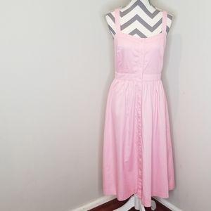 Madewell Pink Fleur Bow-Back Midi Dress size 8